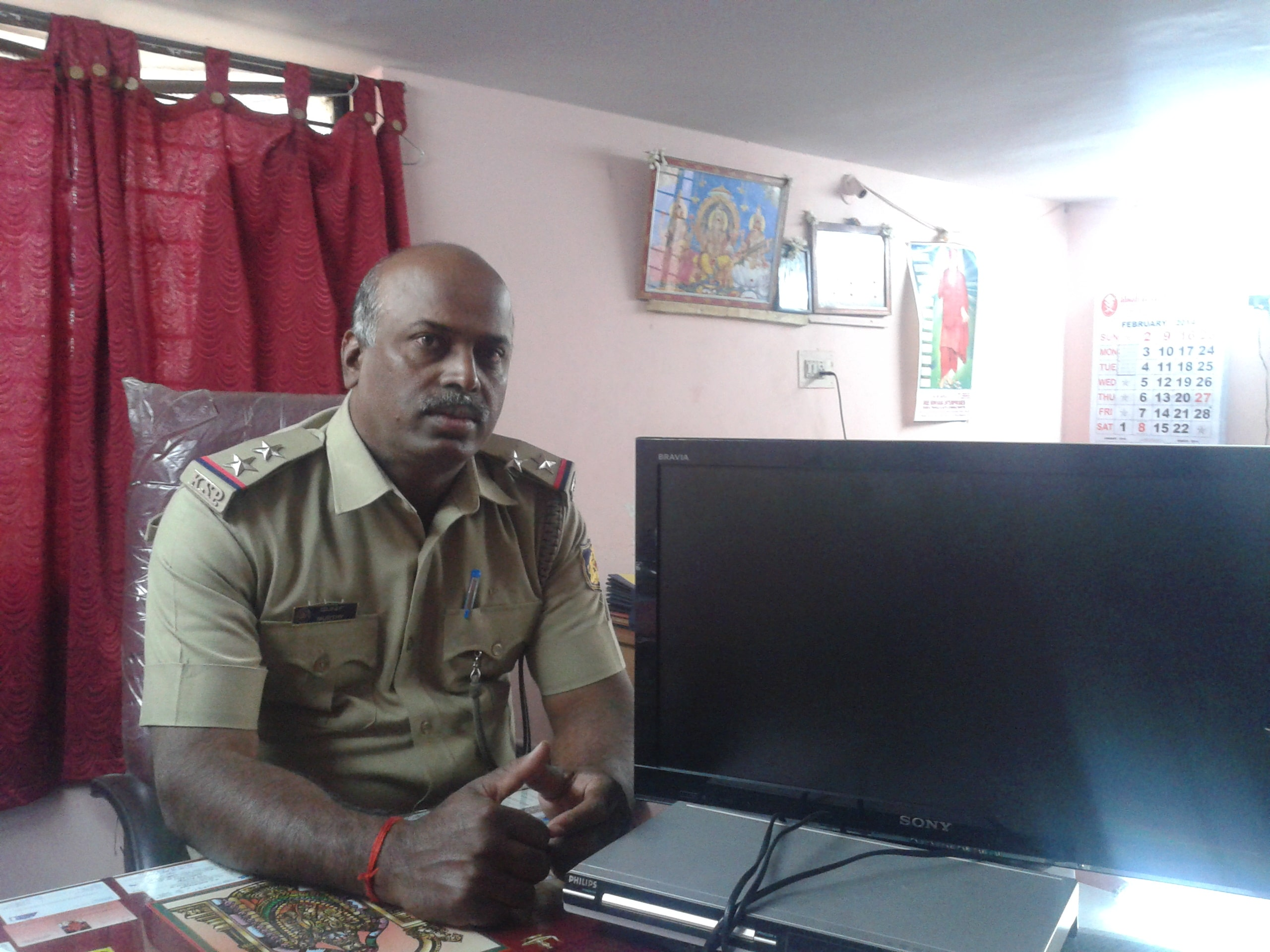Sub Inspector Murthy at Wilson Gardens Police Station, Bangalore